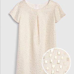 NWT GAP Metallic Pleated Dress in Jacquard